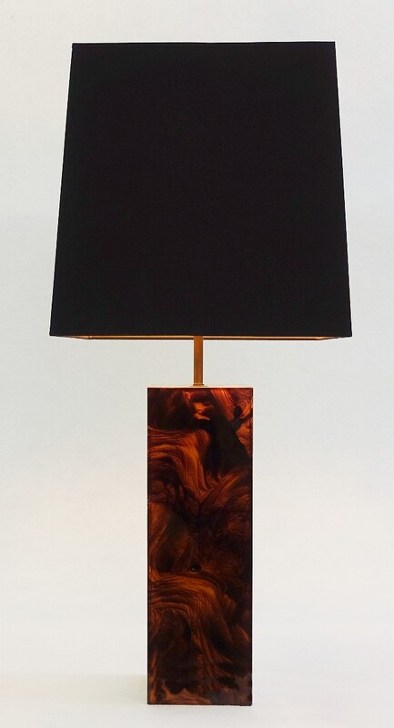 Tortoiseshell Lucite Table lamp