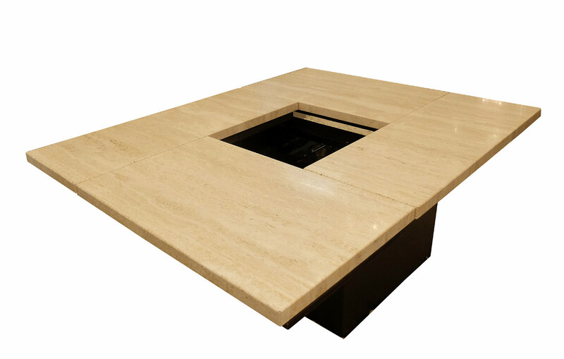 Travertine bar coffee table