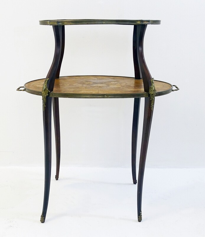 Two tier Tea Table 19th