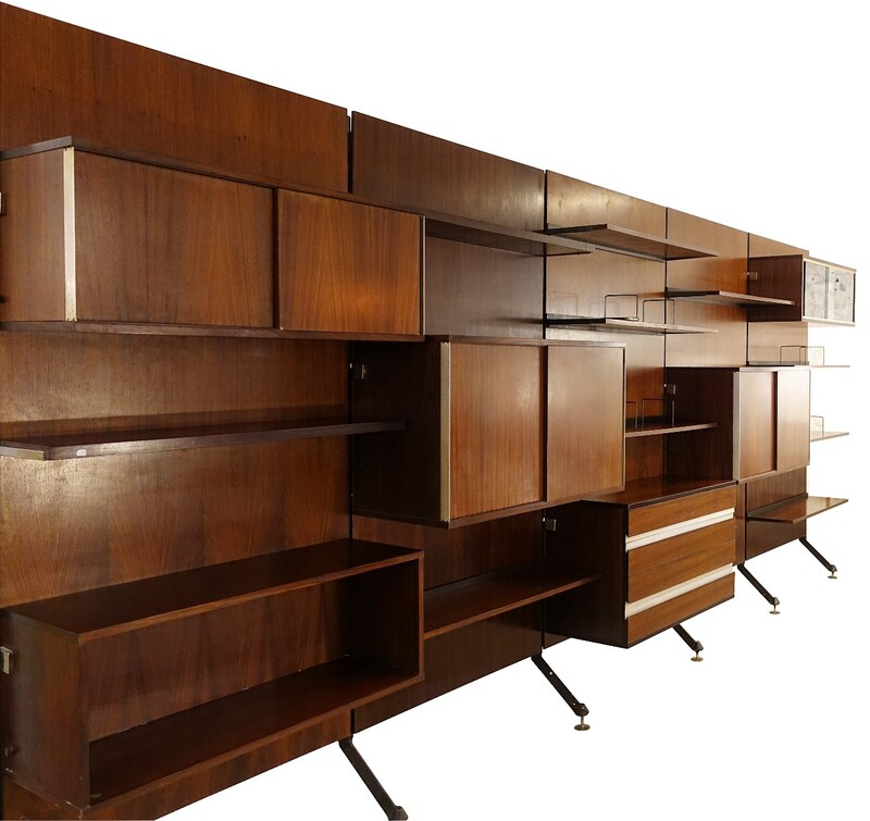 Urio wall unit by Ico Parisi for MIM Roma, 1960s