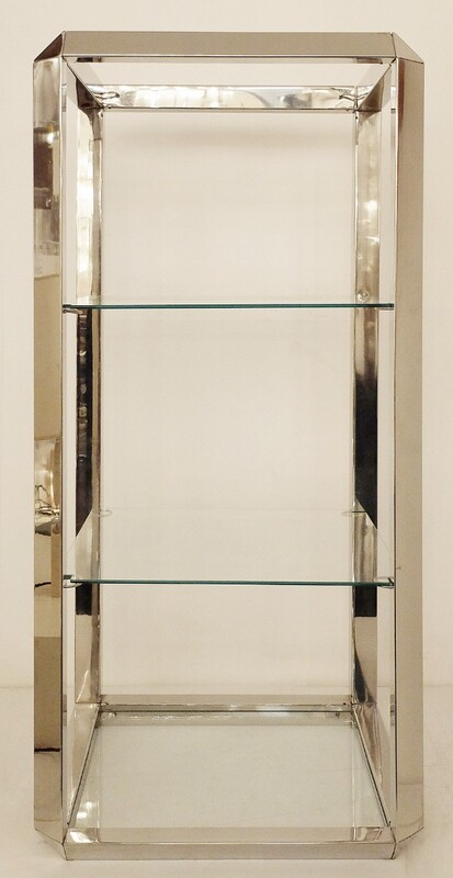Vittorio Introini Chrome And Glass Shelf