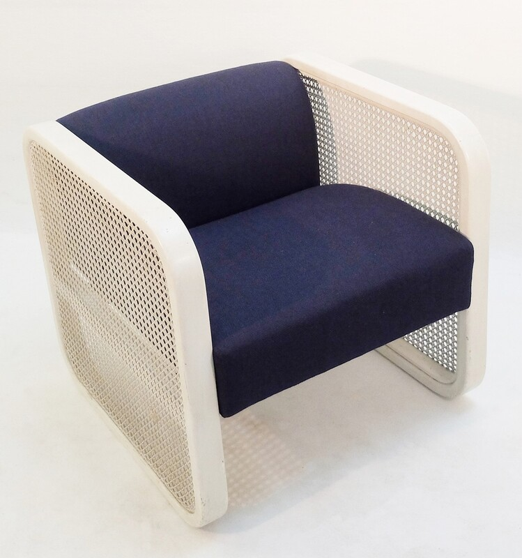 white cane armchair - New Upholstery