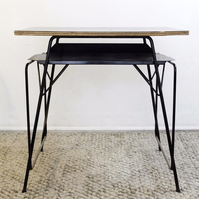 Willy Van Der Meeren Desk for Tubax, circa 1950 - Formica, Metal, Wood- 38 available