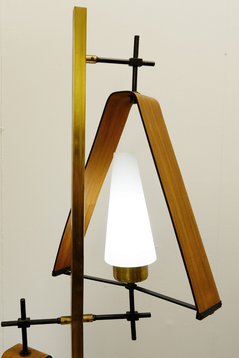 Wood And Brass Floor Lamp Lighting Items By Category European Antiques Decorative