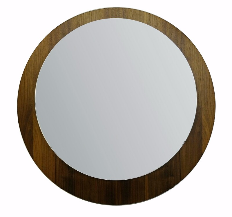 wood Offset Mirror