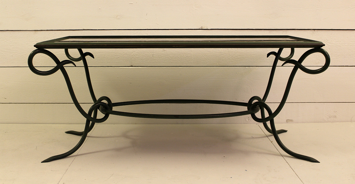 Wrought Iron Coffee Table 40 39 Desk Table Furniture Via Antica