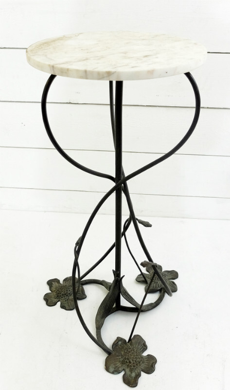 Wrought Iron Pedestal Table