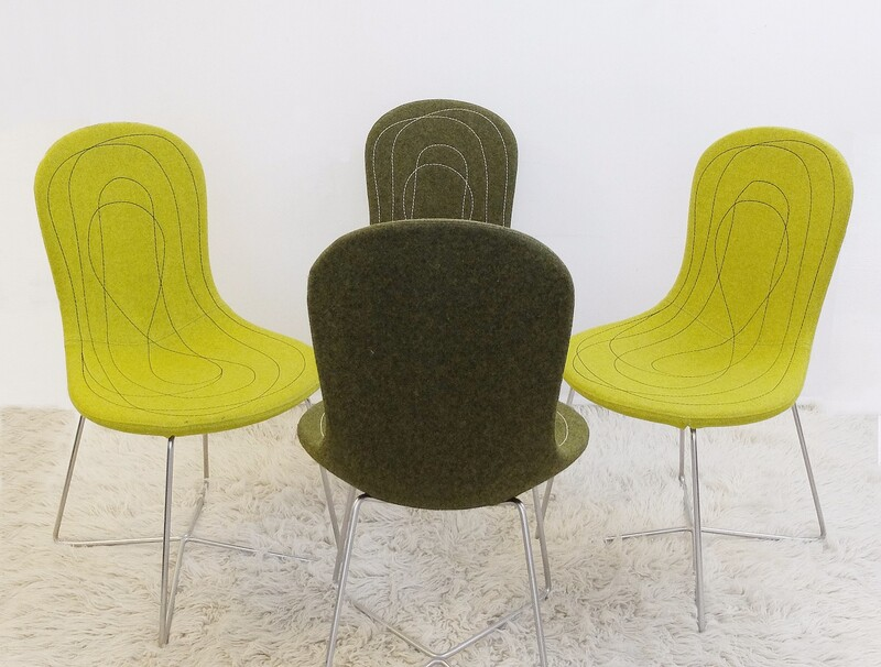 x4 Tacchini Doodle Chairs by Claesson Koivisto Rune