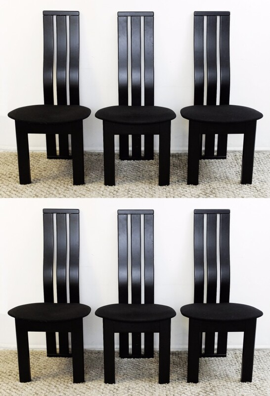 x6 black Dining Chairs