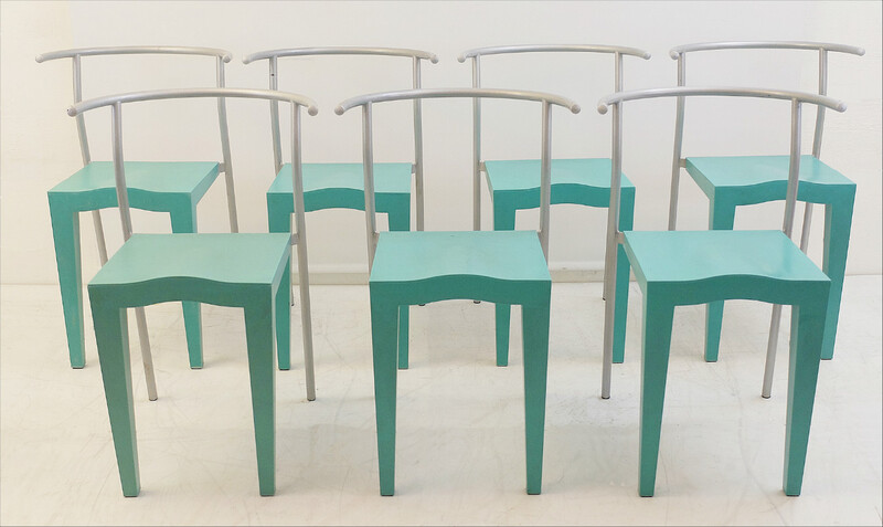 x7 Kartell Dr. Glob Modern Chairs by Philippe Starck