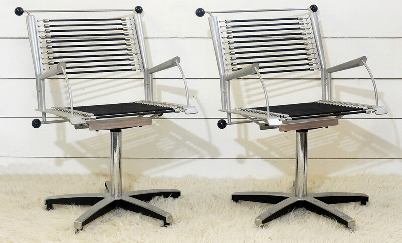 x9 Office Chairs With Black Elastic Straps