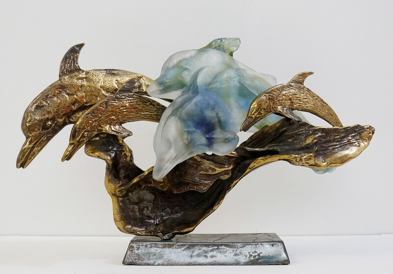Y. Lohe, Bronze Sculpture And Glass Paste,
